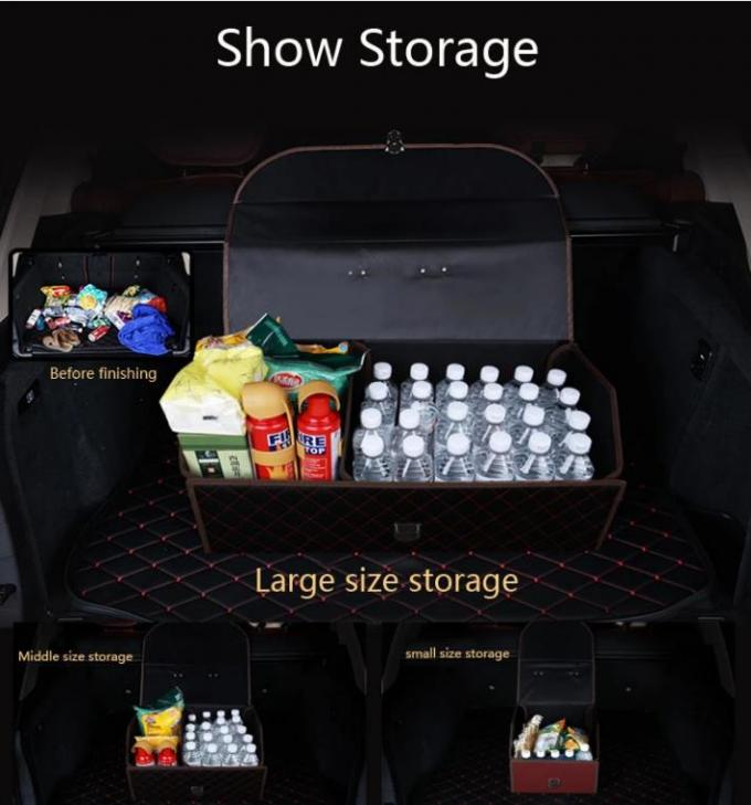 Collapsible Four Main Compartments Big Size Universal Car Trunk Organizer