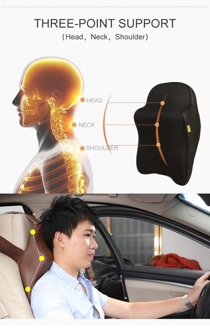 Memory Foam Car Neck Pillow - Neck Support Headrest Pillow - Lumbar Support for Car Two-in-One Back Seat Cushion