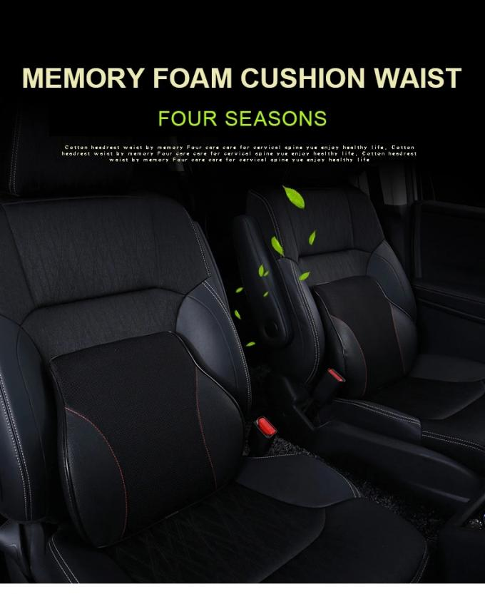 Comfortable Office Back Support Cushion , Memory Foam Cushion For Car