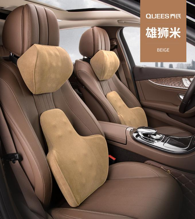 Headrest And Waist Rest Set Auto Car Cushions Memory Foam Back Support